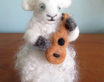 FELTING  - Custom Order  - any color - handmade with wool + vintage buttons ~~~one-of-a-kind~~~