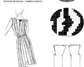 Knit Design Sourcebook for Pattern Design: Design Proposal Sheets