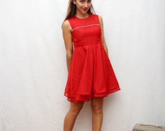 60's red babydoll dress