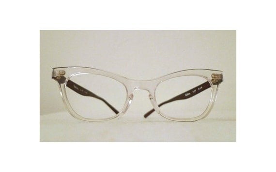 Vintage NOS Cat Eye Eyeglasses/Combination Frames / Auburn Brown ALuminum, Clear, Gold, Black, NOS