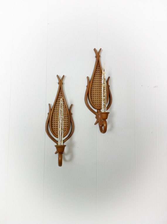 Vintage 1980s Homco Candle Holder Wall Hangings