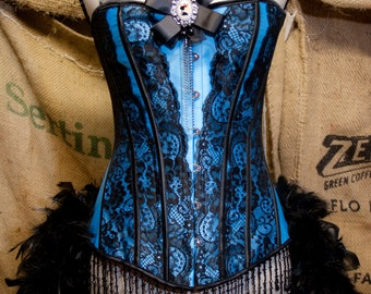 MARIE ANTOINETTE Burlesque Corset dress costume for Steampunk gypsy party-  2XL