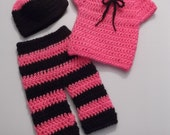 Three Piece Pant Gift Set - newborn baby girl - ready to ship