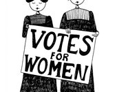Votes for women // suffragette feminist art print