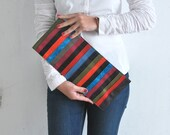 Design multicolor leather clutch bag, colorful handbag, small handbag, vivid colors clutch