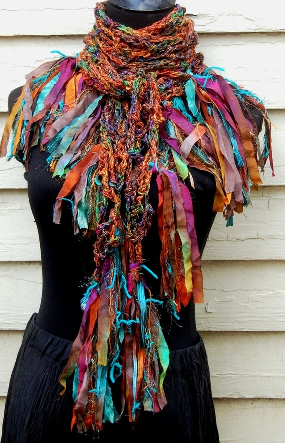 Multi Colored Handmade Crochet Scarf