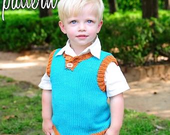 make your own Summer Vest (DIGITAL KNITTING PATTERN) baby toddler child tween boy