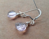 divine pale pink amethyst // february birthstone // bridal earring