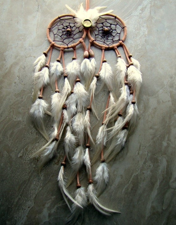 What Stores Sell Dream Catchers Owl Dream Catcher Peach and Ivory Feather Dream Catcher 8