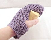 Crochet Bath Mitt, Purple Bath Mitt, Purple Shower Mitt, Cotton Spa Mitt, Cotton Bath Mitt, Cotton Body Glove