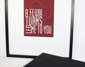 Love Typography Print 8x10 Wrong Turns Led Me to You Valentine Love Red Black White 8x10