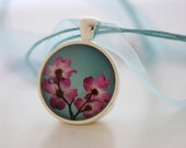 Dogwood Flower Photo Pendant Necklace called Enamored by Hazel Berger