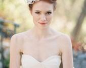 Wedding, Bridal Headpiece, Fascinator, Lace flower, Lace - Style 212