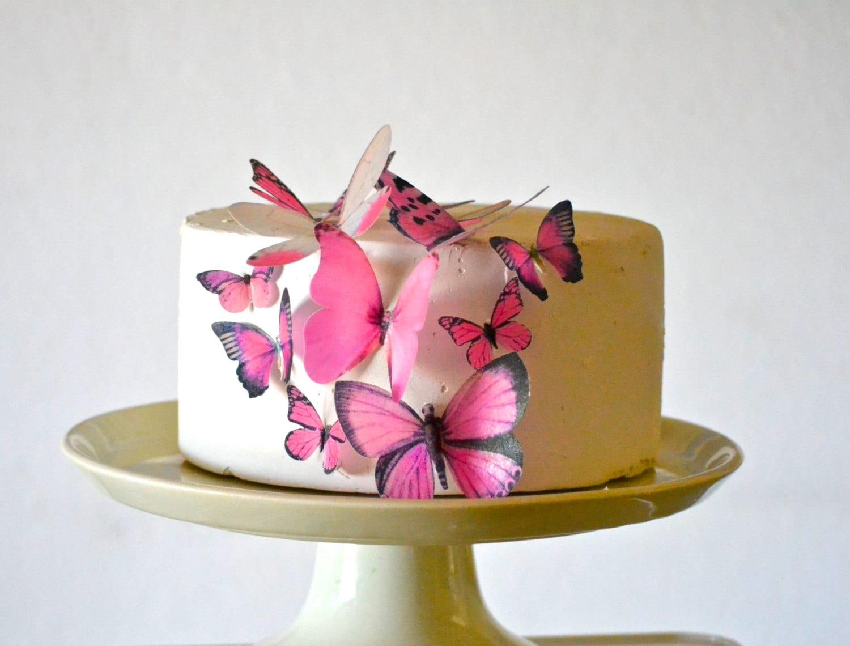 Wedding Cake Topper Edible Butterflies Assorted set of 15 - Cake ...