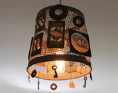 hanging light, one-off, recycled objects