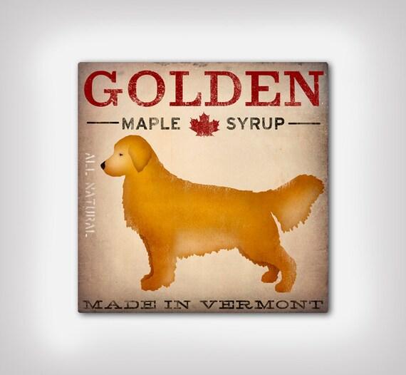 Custom Personalized Golden RETRIEVER Dog Maple Syrup