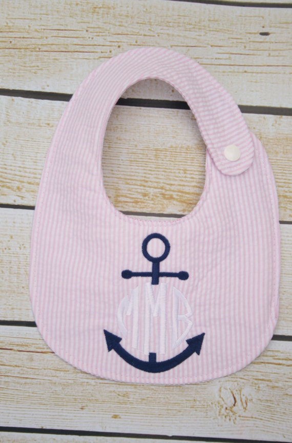 Items similar to personalized bib monogrammed baby