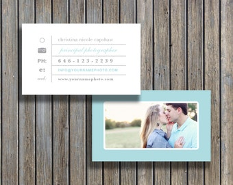 Business Card Design Template for Wedding Photographers - Photoshop Files - INSTANT DOWNLOAD - c0005