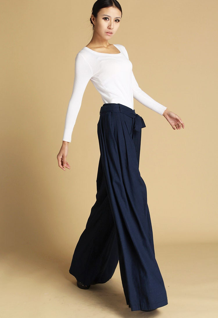 Creative Womens Navy Pants | Pant So