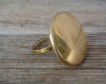 Brass Button Ring (R44)