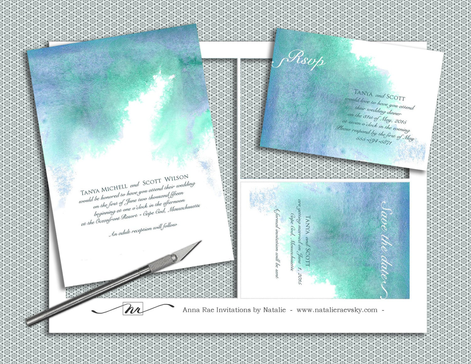 5X7 Invitation Paper with awesome invitations design