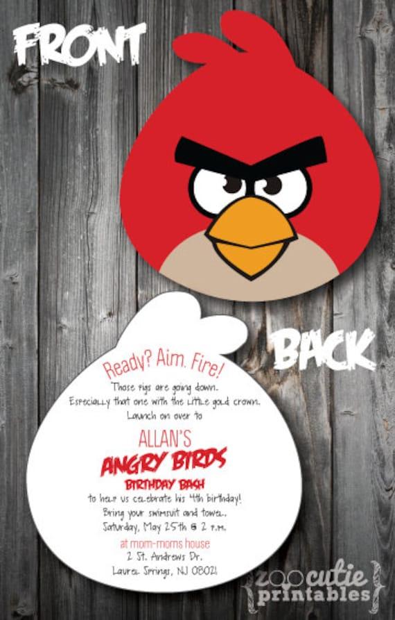 DIY Angry Birds Invitations