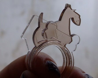 Curious Scottish terrier ring set from Dog Lovers collection NEW