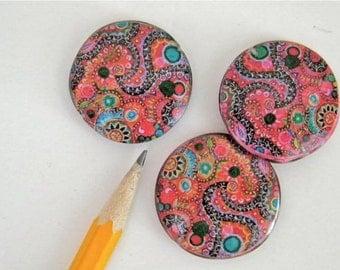 handmade decoupage beads  -  3