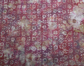 1 and 1/2 Yards Vintage Hippie Dippie Cotton Fabric Pink/Purple/White