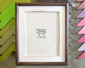"8x10"" Picture Frame with Vintage White Finish in Vintage Chocolate Double Cove Build Up - Can Be Any Color Combination - 8x10 Photo Frame"