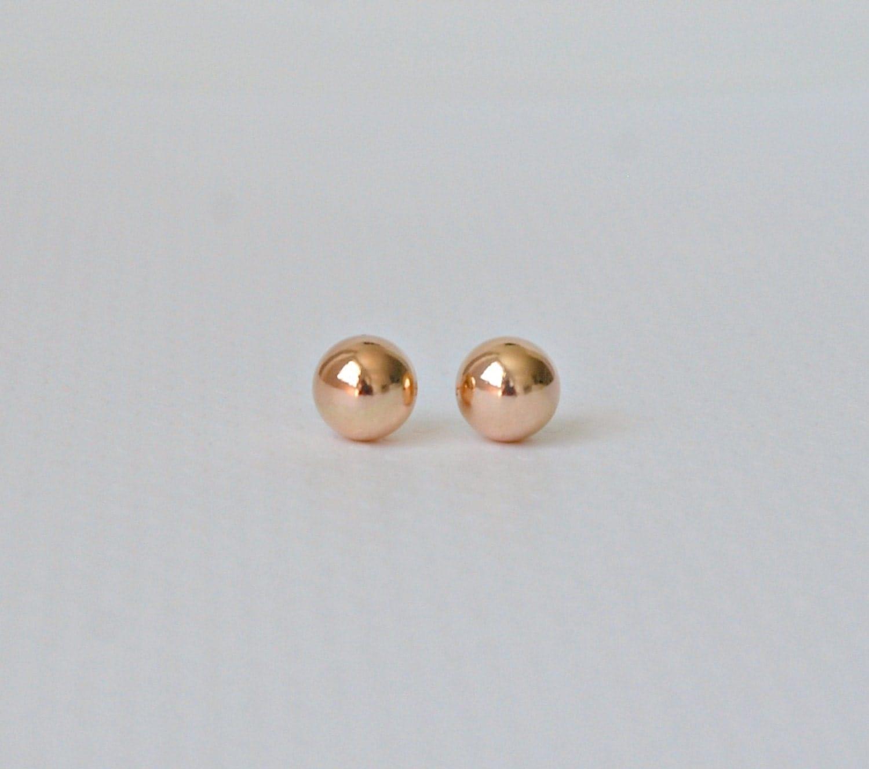 rose gold ball earrings designer style 10mm ball stud. Black Bedroom Furniture Sets. Home Design Ideas