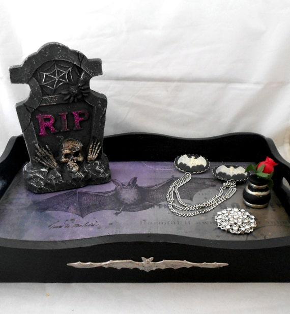 Gothic Vanity Tray Gothic Home Decor Vampire Bat