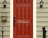 Welcome Decal - Front Door Decal - Welcome Door Decal - Script Decal