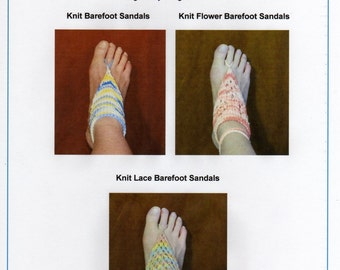Knit Barefoot Sandals 3 in 1 PDF Pattern