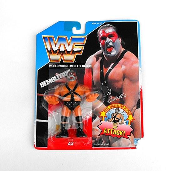 Retro WWF Demolition AX 1990 Titan Sports Hasbro Collector's Figurine