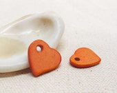 Orange Ceramic Heart Bead Mykonos Heart Greek Beads 3 Large Hole beads Jewelry Craft supplies DIY pendant