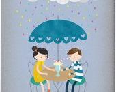 Rainy Day Love 3 - Customizable 8x10 Archival Art Print