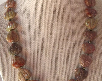 Unakite Necklace Set