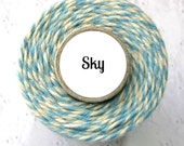 ON SALE! Light Blue and Cream Bakers Twine by Trendy Twine - Sky
