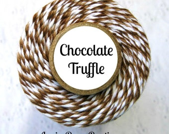 Dark Brown, Light Brown & White Bakers Twine by Trendy Twine - Chocolate Truffle