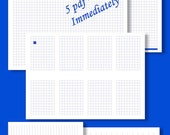 Printable Graph Paper Downloads - Graph/Grid and Lined Paper in BLUE - You can download the pdf immediately.