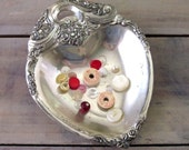 Vintage Silver Plate Heart Dish