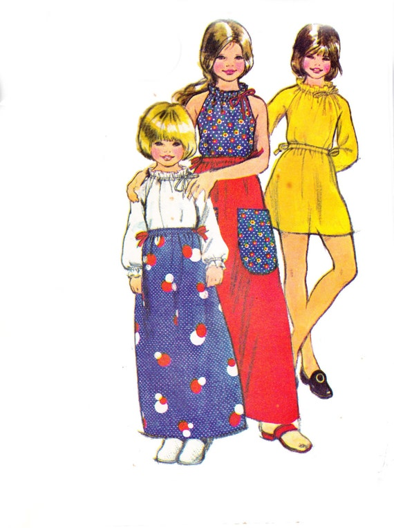 70s Girls Skirts & Blouses Pattern McCall's 3251 Vintage Sewing Pattern Size 14 Breast 32 inches UNCUT Factory Folded