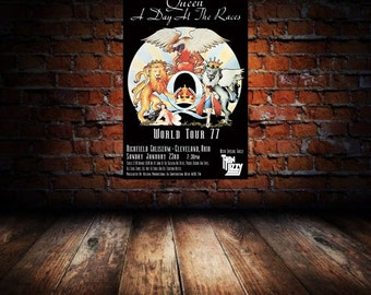 Queen 1977 Cleveland Concert Poster