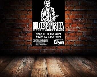 Bruce Springsteen 1978 Cleveland Concert Poster