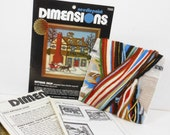 Vintage Charles Wysocki Needlepoint Kit Antique Shop Dimensions 1981 Wool USA PeachyChicSewing on Etsy