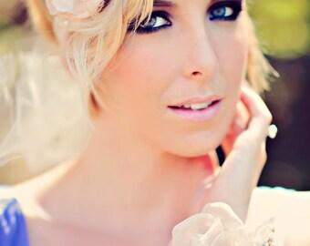 Crystal Bridal Cuff- SWAROVSKI- Rhinestone and Pearl Bridal Statement Bracelet