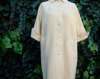 Vintage 50s / Travelaire / Cream / Glori Spun / DUMAS / Coat / LARGE