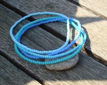 Simple Stretchy Seed Bead Bracelet  - Friendship Bracelet