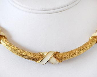 Vintage 80s Choker Necklace David Hill
